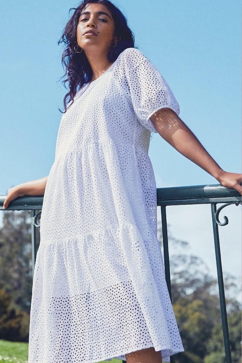 Everlane Tiered Eyelet Dress