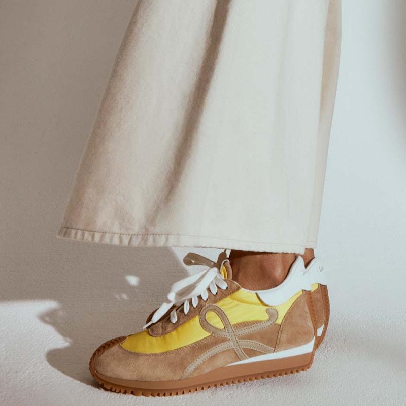 Loewe Flow Runner Suede Sneakers
