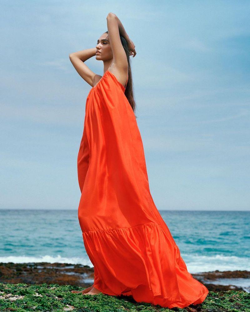 Mytheresa Exclusive Kalita Brigitte Silk Satin Maxi Dress