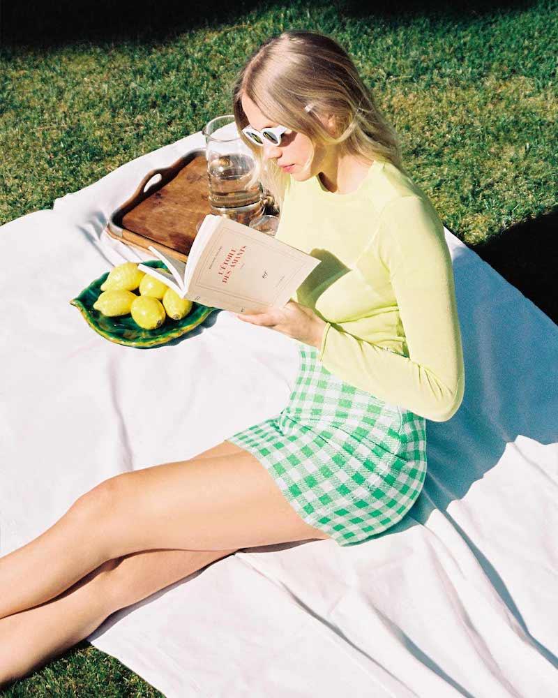 Philosophy di Lorenzo Serafini Linen Cotton Blend Miniskirt