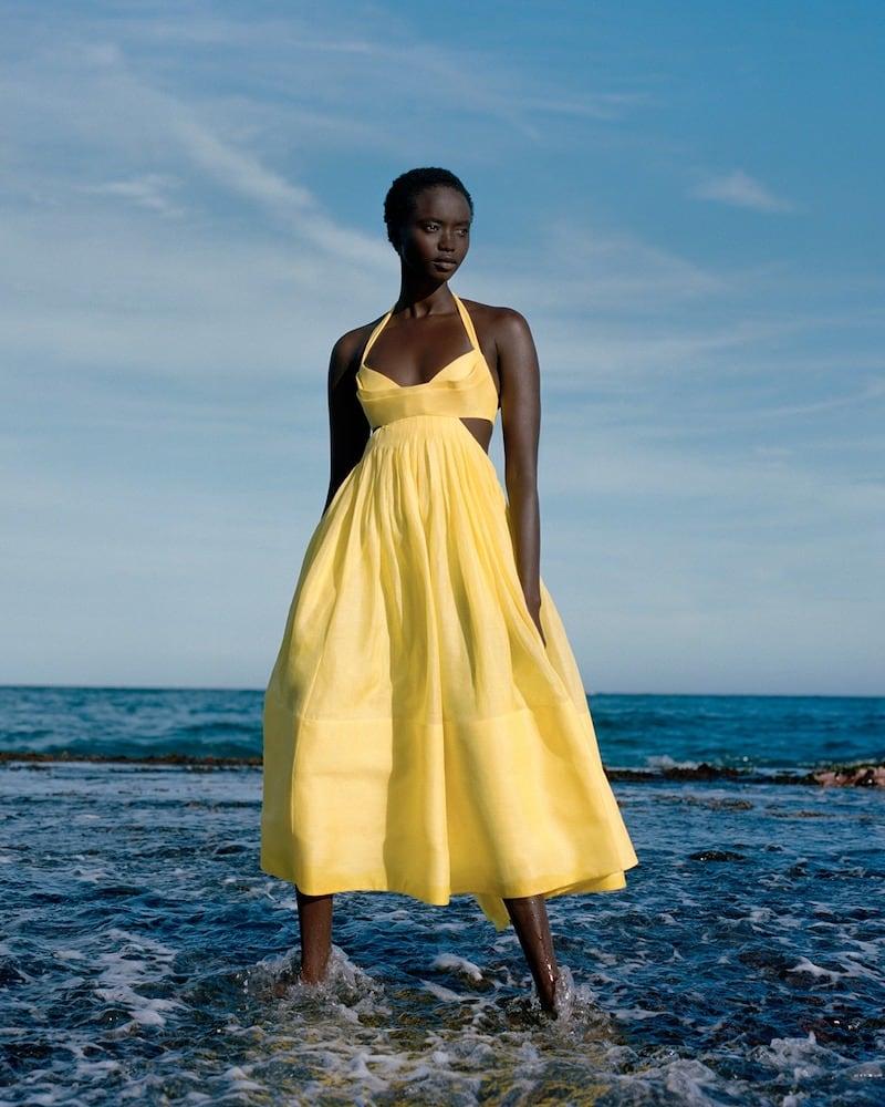 Zimmermann Botanica Linen and Silk Midi Dress