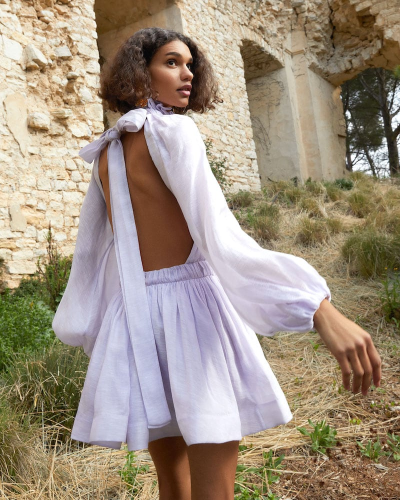 Zimmermann Luminous Long Sleeve Mini Dress