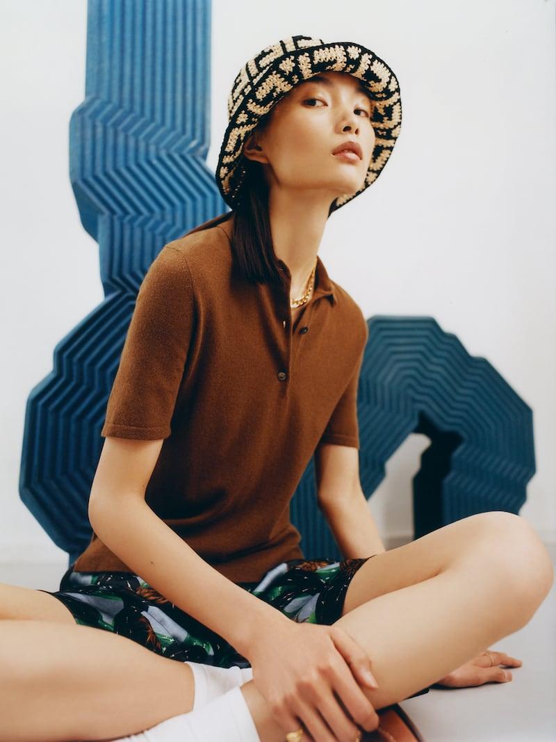 Arch4 + Net Sustain Organic Cashmere Polo Shirt
