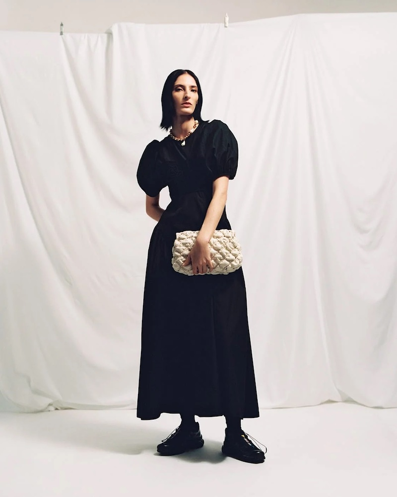 Cecilie Bahnsen Chloe Ruffled Cotton-Blend Poplin Dress