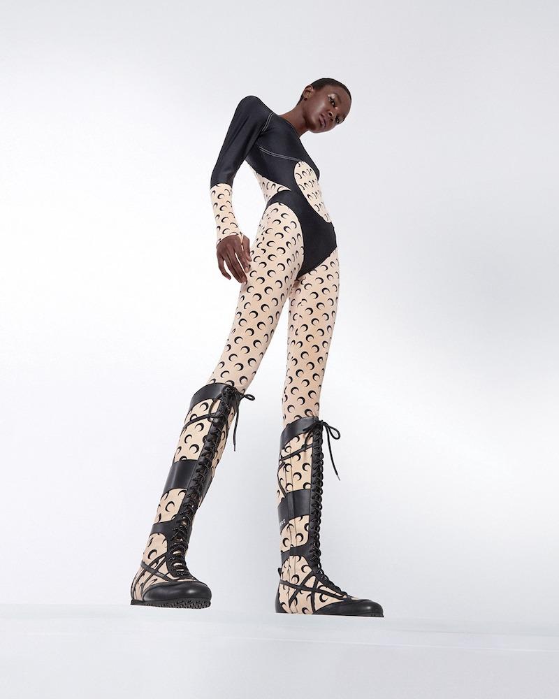 Jimmy Choo x Marine Serre Printed Knee-High Boots