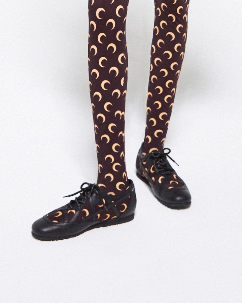 Jimmy Choo x Marine Serre Printed Leather-Trimmed Sneakers