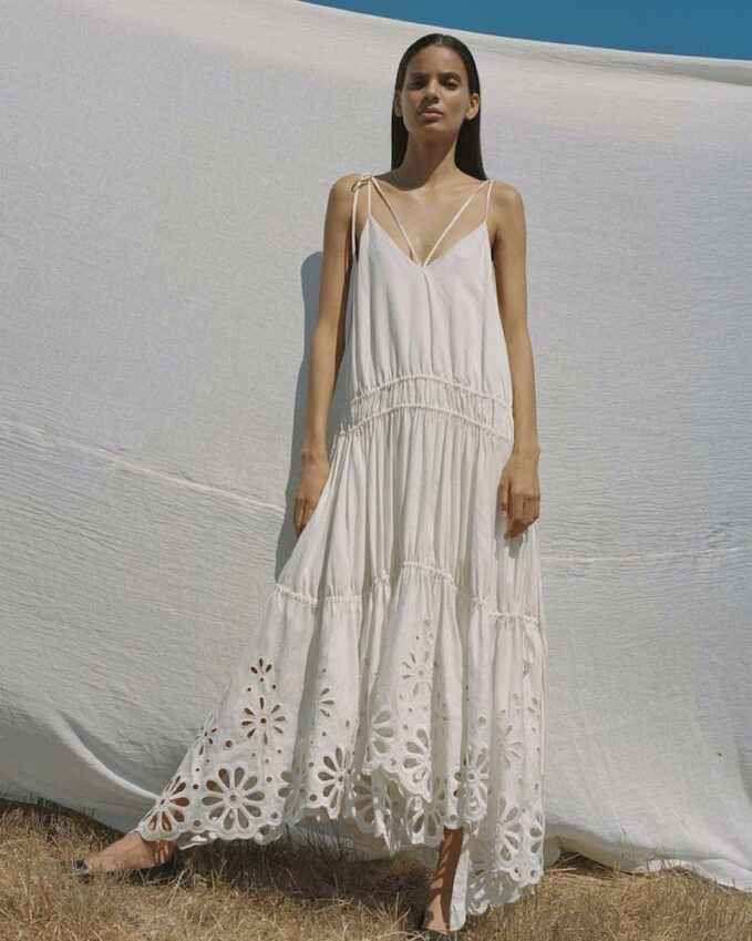 Jonathan Simkhai Juna Linen-Blend Maxi Dress