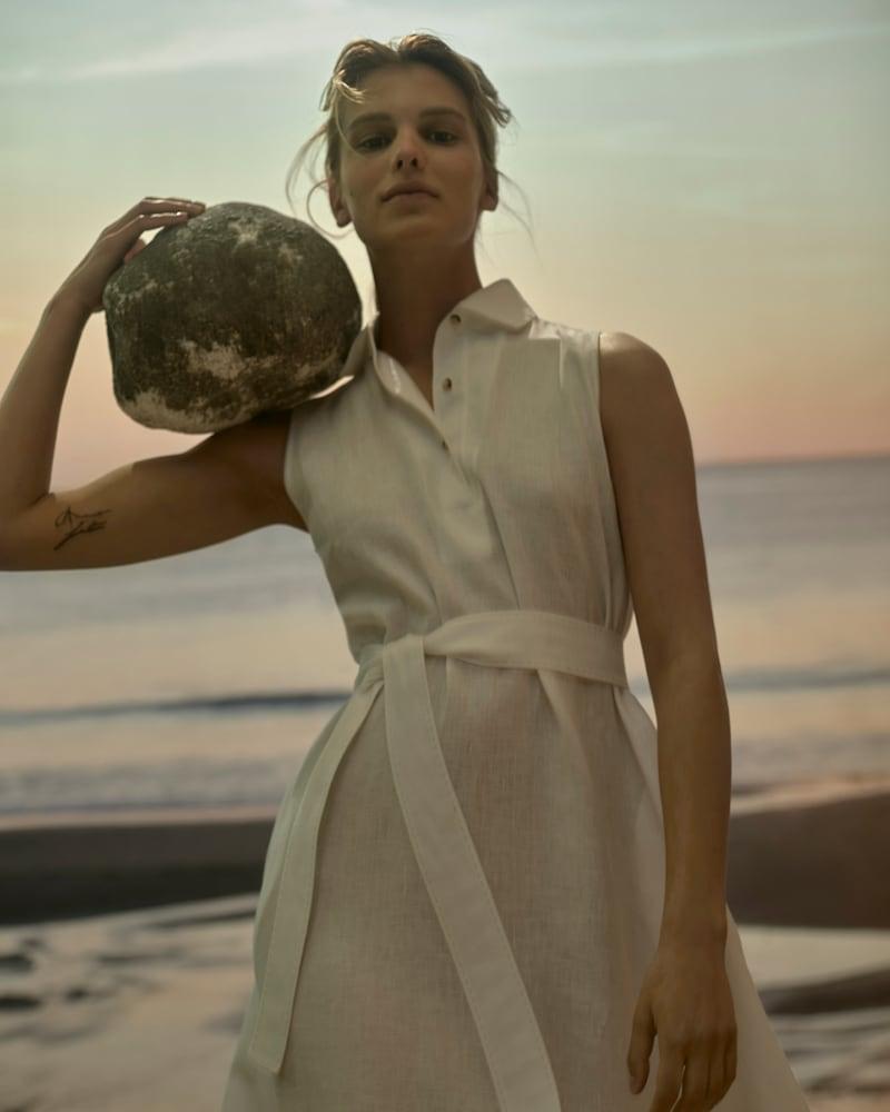 Loro Piana x Mytheresa Leyla Linen Midi Dress