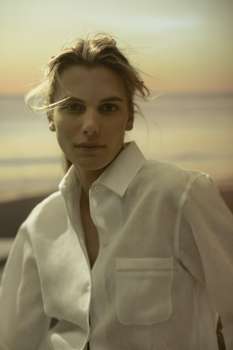 Loro Piana x Mytheresa Neo André Linen Shirt in White