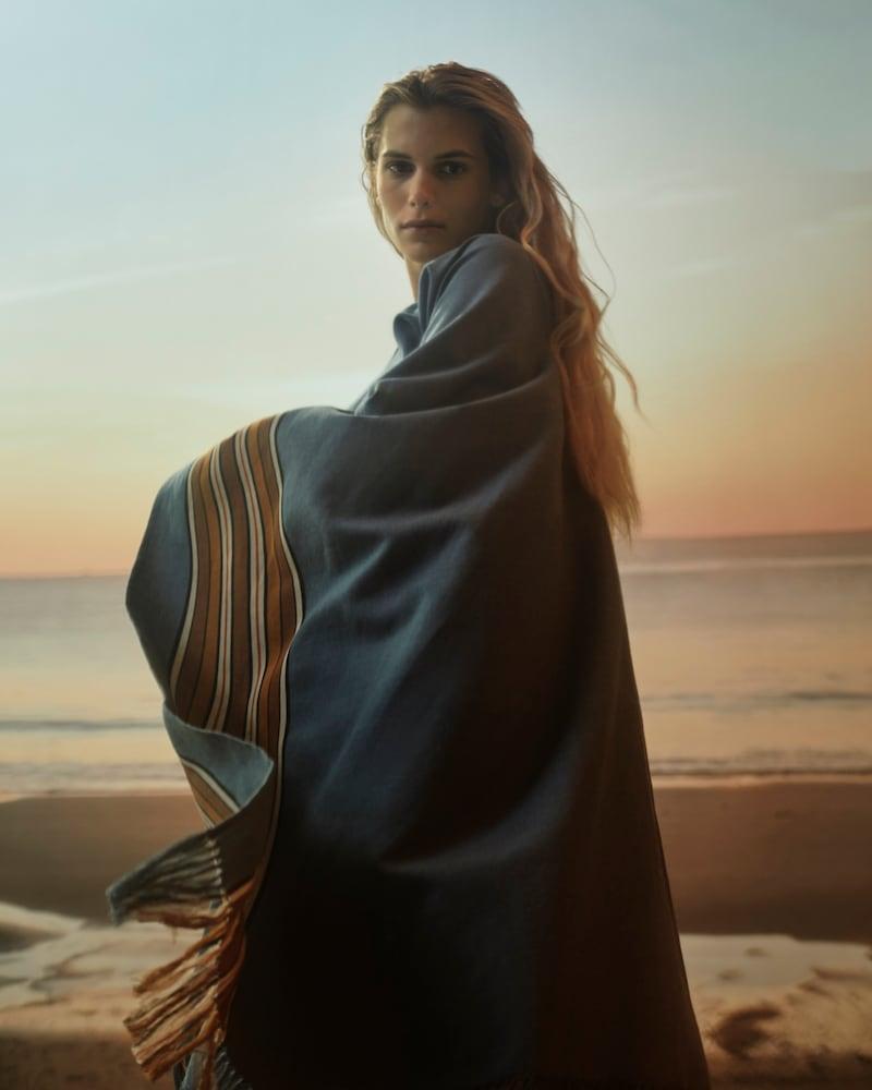 Loro Piana x Mytheresa The Suitcase Stripe Cotton and Linen Kaftan