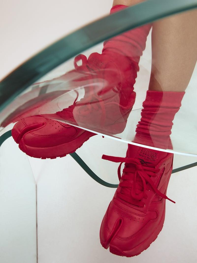Reebok + Maison Margiela Project 0 Classic Tabi Split-Toe Leather Sneakers