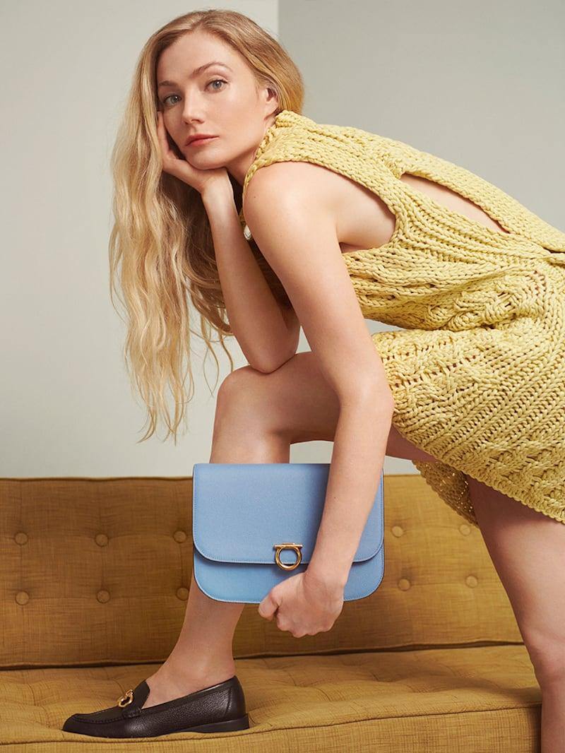 Salvatore Ferragamo Cutout Cable-Knit Cotton Turtleneck Mini Dress