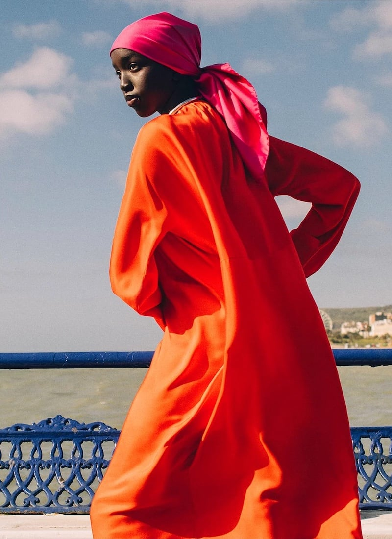 Asceno Rhodes Silk-Twill Maxi Dress