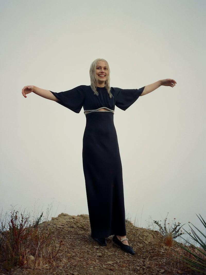 David Koma Cutout Crystal-Embellished Satin Midi Dress