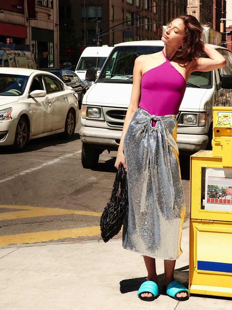 En Saison Sequins Midi Skirt