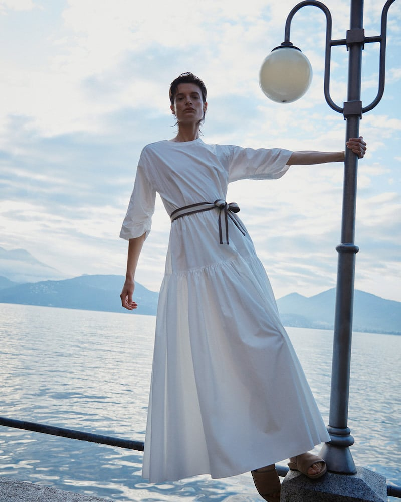 Mytheresa Exclusive Brunello Cucinelli Cotton Poplin Maxi Dress