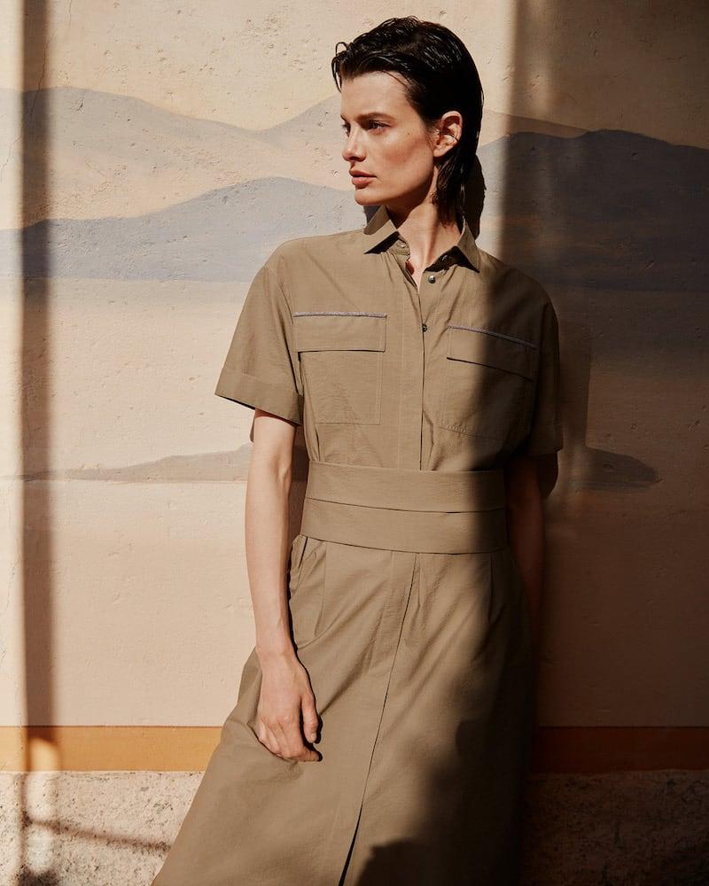Mytheresa Exclusive Brunello Cucinelli Embellished Cotton Shirt Dress