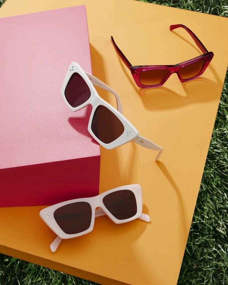Celine Acetate Butterfly Sunglasses